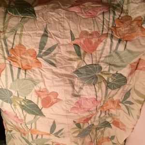 JCPenney Vintage Tropical Floral Queen Bedspread